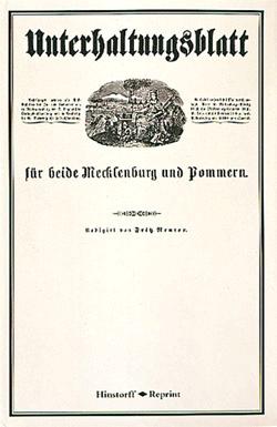 Unterhaltungsblatt für beide Mecklenburg und Pommern